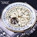 Reloj de pulsera automático de lujo de marca superior para hombre con diseño de Tourbillon de esfera elegante amarillo a escala militar de la serie Jaragar Aviator