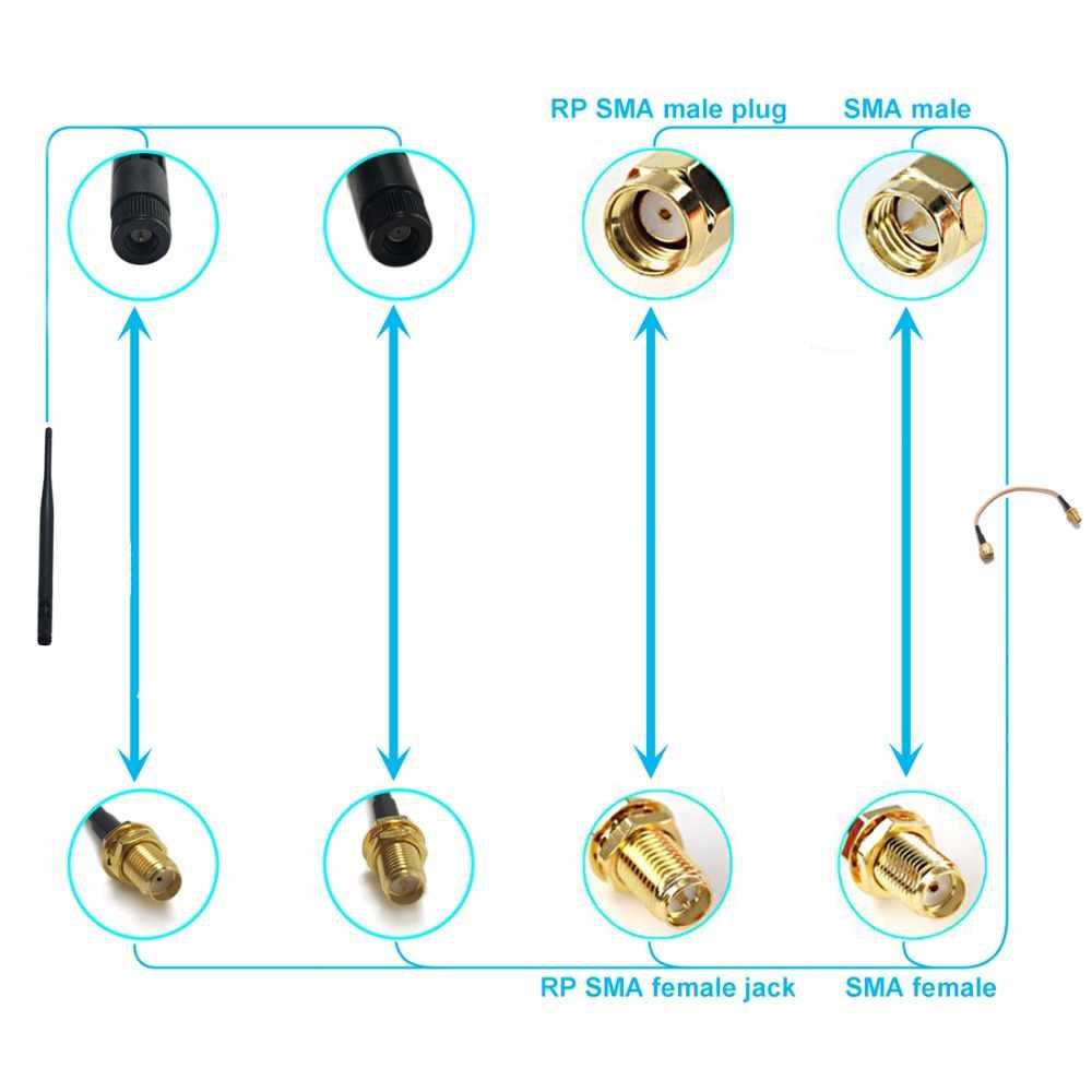 """Yeni Kablosuz Modem Tel RP-SMA Erkek Fiş Dik Açı MS156 Dik Açı Konektörü RG316 Toptan Hızlı Gemi 15 CM 6"""""""