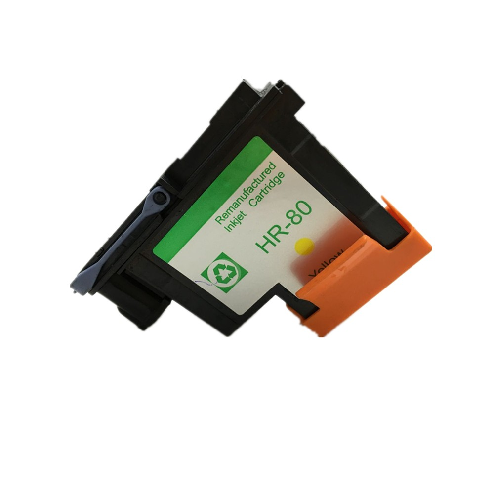 ФОТО 1 Piece Yellow printhead for HP80 for Designjet 1000 1050c 1055cm printer  Compatible HP 80  Ink Cartridge Head CA4823A