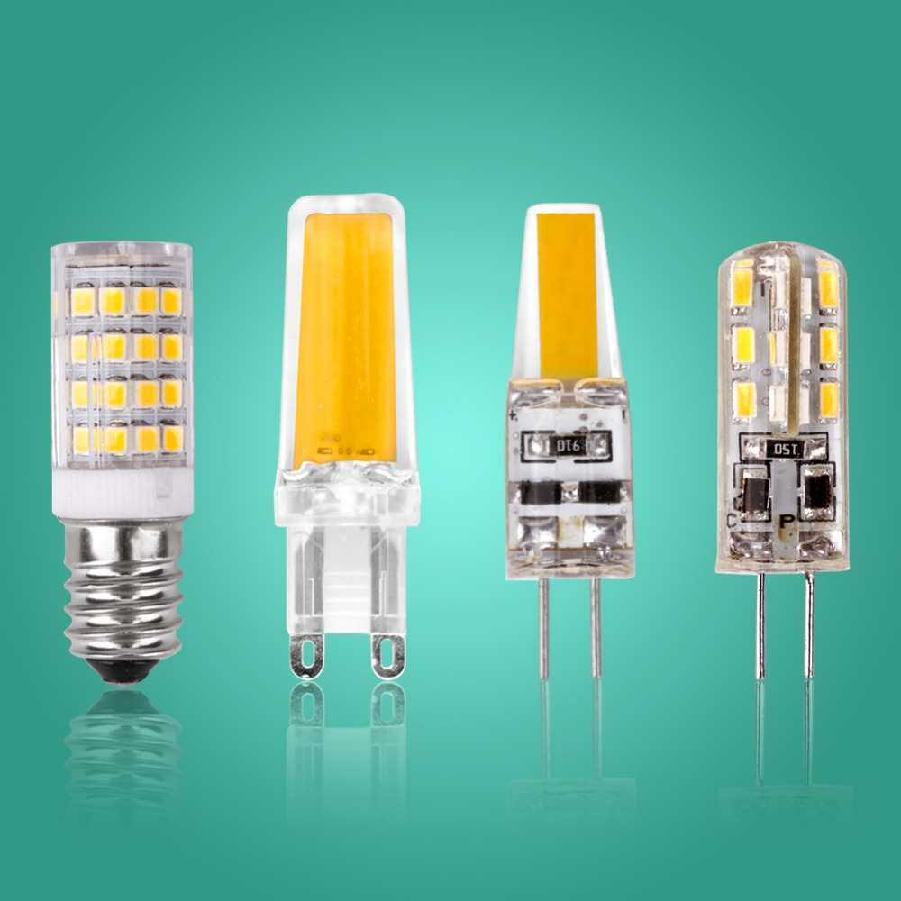 Led G4 G9 E14 Lamp Bulb Dimming Lighting COB SMD AC DC 12V 220V 3W 6W 9W Replace Halogen Lights Spotlight Chandelier Bombillas iminovo 20 pack e14 led light bulb ac 220v 6w 2835 smd ceramics spotlight replace halogen spotlight chandelier warm cool white