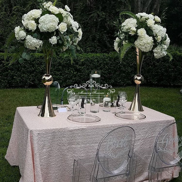 80cm Tall Wedding Flower Vase Metal Trumpet Vase For: 63 Cm 74 Cm Tall Wedding Decoration Table Centerpiece