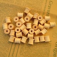 Free Shipping Minimum Size 200pcs Wholesale 15 12mm Natural Color Wooden Bobine Classic Style DIY Tool