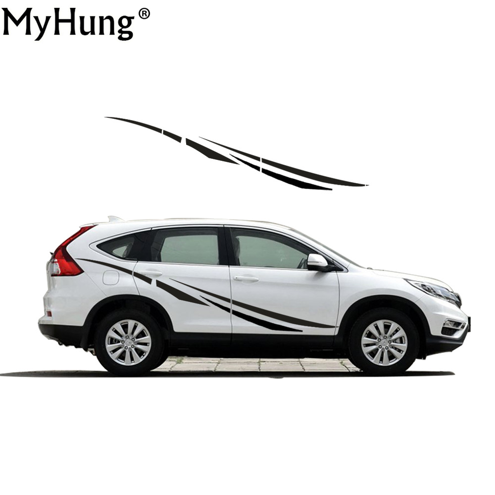 Creative Car Styling For Honda CR V DIY Car Whole Body Sticker Car Decoration  PVC Car Decal Cover Body Scratches 2pcs vinyl tag game console protection scratches cover sticker for ps4 wireless controller decoration cool styling skin