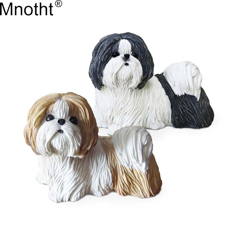 Mnotht Mini Toys 1/6 Chrysanthemum Shih Tzu Dog Model Chinese Animal Dog Scene Accessory for Action Figure Collection Gift md 12pcs set children kids toys gift mini figures toys little pet animal cat dog lps action figures