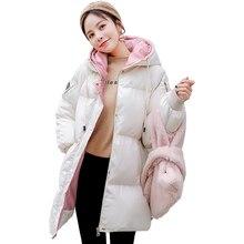 Winter 2019 New Fashion Cotton Jacket Pregnant Women Parker Clothing Female Korean Version Loose Pregnancy Period Long Coat Tide стоимость