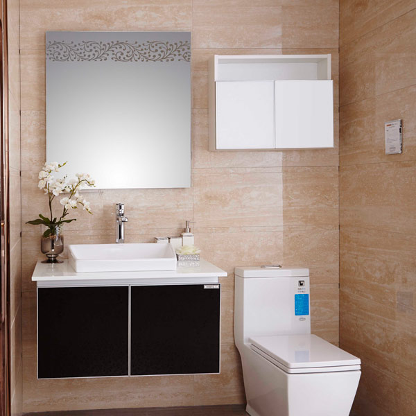 new design cheap french wallmounted lowes bathroom vanity cabinet op14013