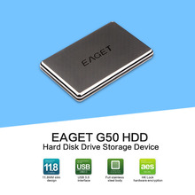EAGET G50/G60 1TB External Hard Drive 500GB HDD Stainless Steel Body Encryption USB3.0 High-Speed PC HDD Hard Disk Hot Sell