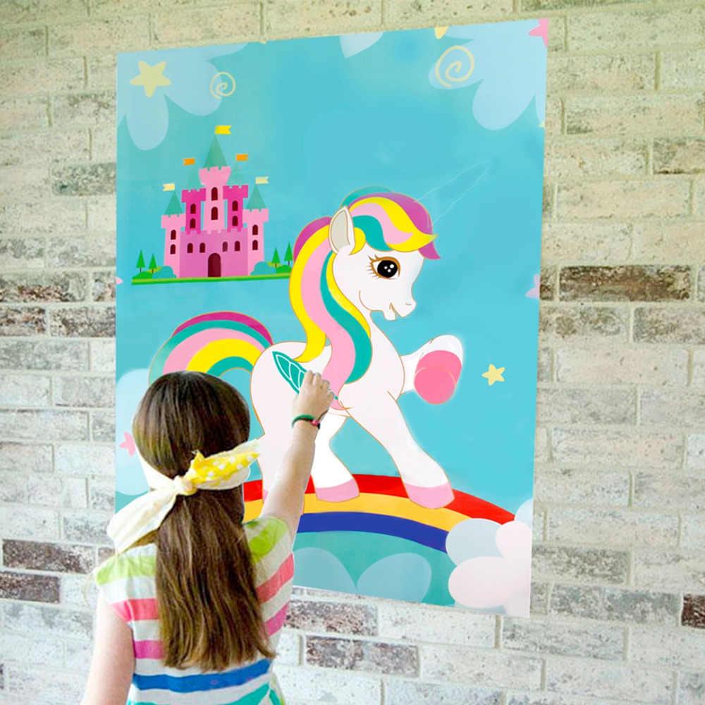 زجاجات مستلزمات حفلات لشخصية هويران ووحيد القرن شكرا لك ملصقات ملصقات ملونة ملونة لحفلات أعياد الميلاد
