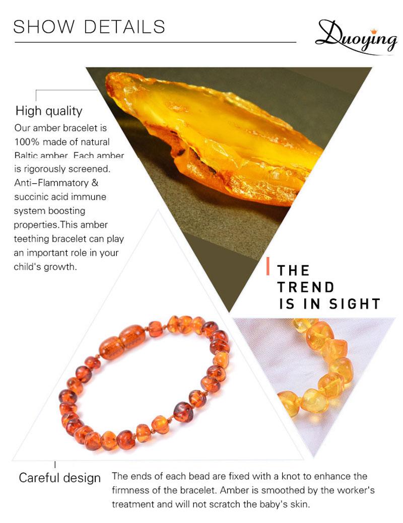 Vintage Natural Baltic Amber Multicolor Bracelet No Enhancement