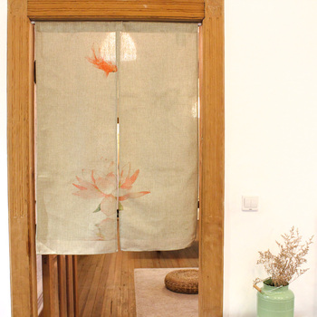 Nice Curtains The goldfish and cotton curtain partition elegant Chinese style door curtain Durable