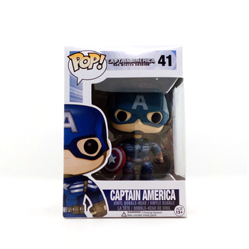 Funko POP Marvel figurine Captain America I:IThe Winter Soldier 41# PVC action figure 10CM with box collection toy model doll цена 2017