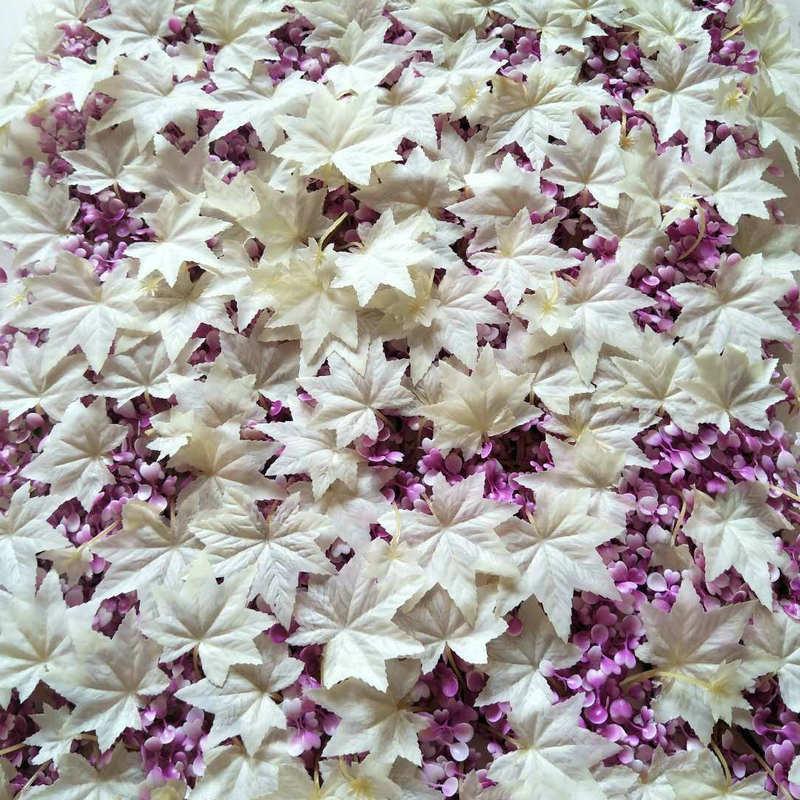 Белые кленовые листья шелковые искусственные цветы «сделай сам» дорога Led свадебный цветок настенный Декор украшение для дома