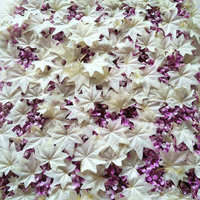 White Maple Leaves Silk Artificial Flowers DIY Road Led Wedding Flower Wall Background Decor Home Party Decoration Floral
