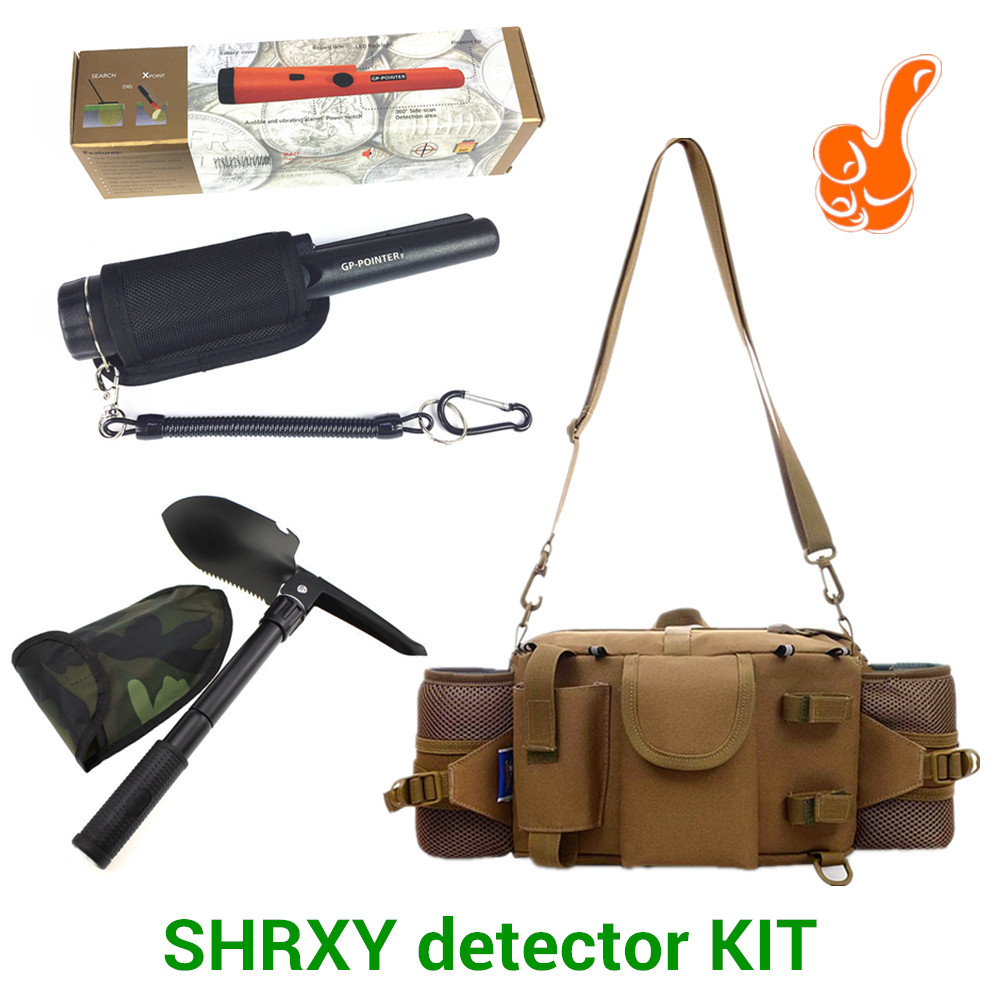 2018 Upgraded Sensitive Gp Pointer Metal Detector Kit Pro Pinpointing Hand Held Metal Detector with Toolkit Pockets and Shovel 2018 metal detector waterproof case kit pro pointer pinpointing cover gp pointer hand held metal detector waterproof case kit