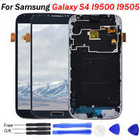 S4 LCD for SAMSUNG Galaxy S4 Display Screen i9505 i9500 i9505 i9506 i9515 i337 LCD Touch Screen Digitizer with Frame I9500 LCD