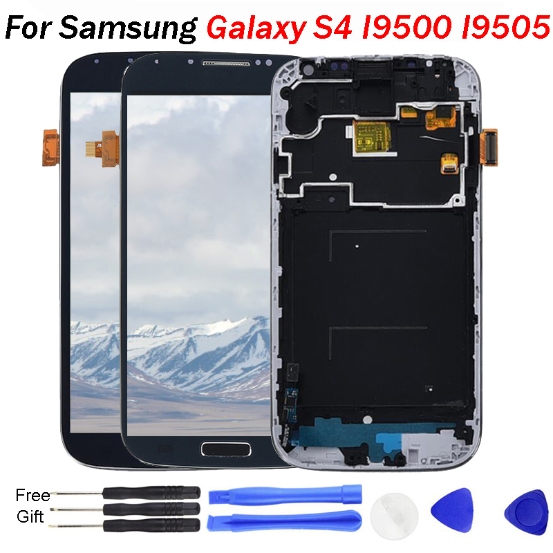 <font><b>S4</b></font> <font><b>LCD</b></font> für <font><b>SAMSUNG</b></font> <font><b>Galaxy</b></font> <font><b>S4</b></font> Display Bildschirm i9505 i9500 i9505 i9506 i9515 i337 <font><b>LCD</b></font> Touch <font><b>Screen</b></font> Digitizer mit Rahmen i9500 <font><b>LCD</b></font> image