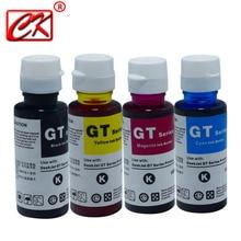 CK 4Pcs 100ML מילוי מדפסת דיו דיו צבע ערכת עבור HP משרד הזרקת דיו 3525 4615 4625 5525 6520 6525 GT5810 GT5820 GT51 GT52 מדפסת