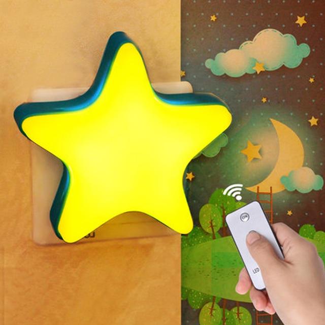 led light motion sensor kid night lights star bedroom wall lamp