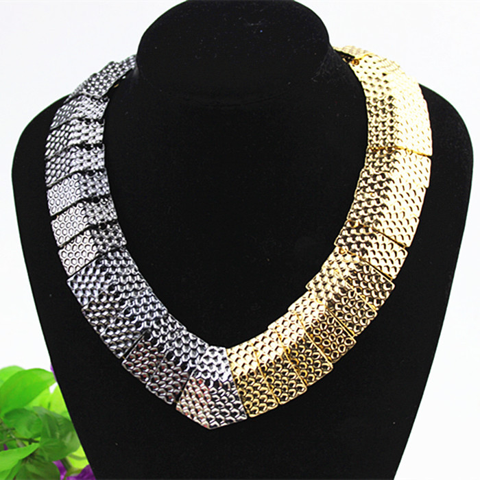 New design exaggerated romantic girl noble gift wholesale gold-plated mixed platinum pendant necklace! Free shipping!