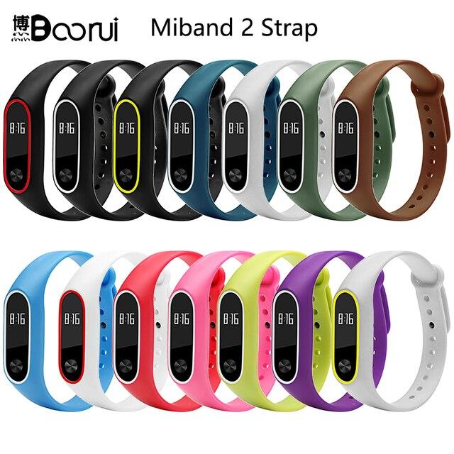 BOORUI Silicone mi Bande 2 Bracelet Sangle double couleur mi band2 Sangle Bracelet Remplacement Smart dragonne Pour xiaomi mi2 bande