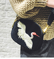 2017 New Women's  Bag Suede embroidered Red Crowned Crane Evening Clutch Purses Velvet Shoulder Bags Woman Bolsas Feminina