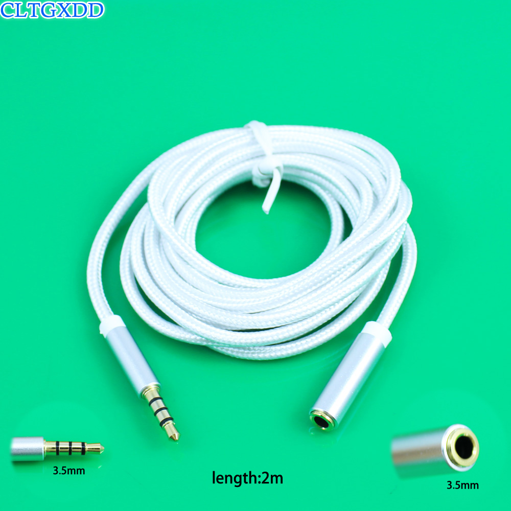 cltgxdd Earphone Extended Cable 3.5mm Male To Female Audio Extension Cord Headphone Lengthen Line Headset Adapter For PC Laptop