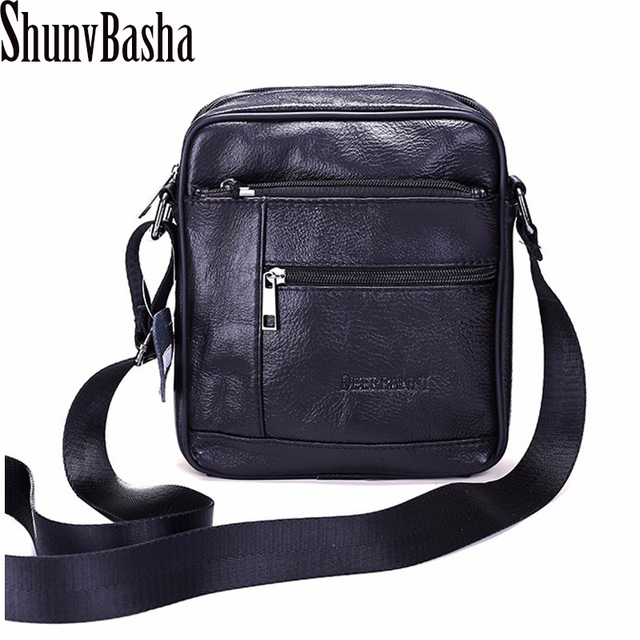 Aliexpress.com : Buy Shunvbasha Genuine Leather Men Bags Male ...