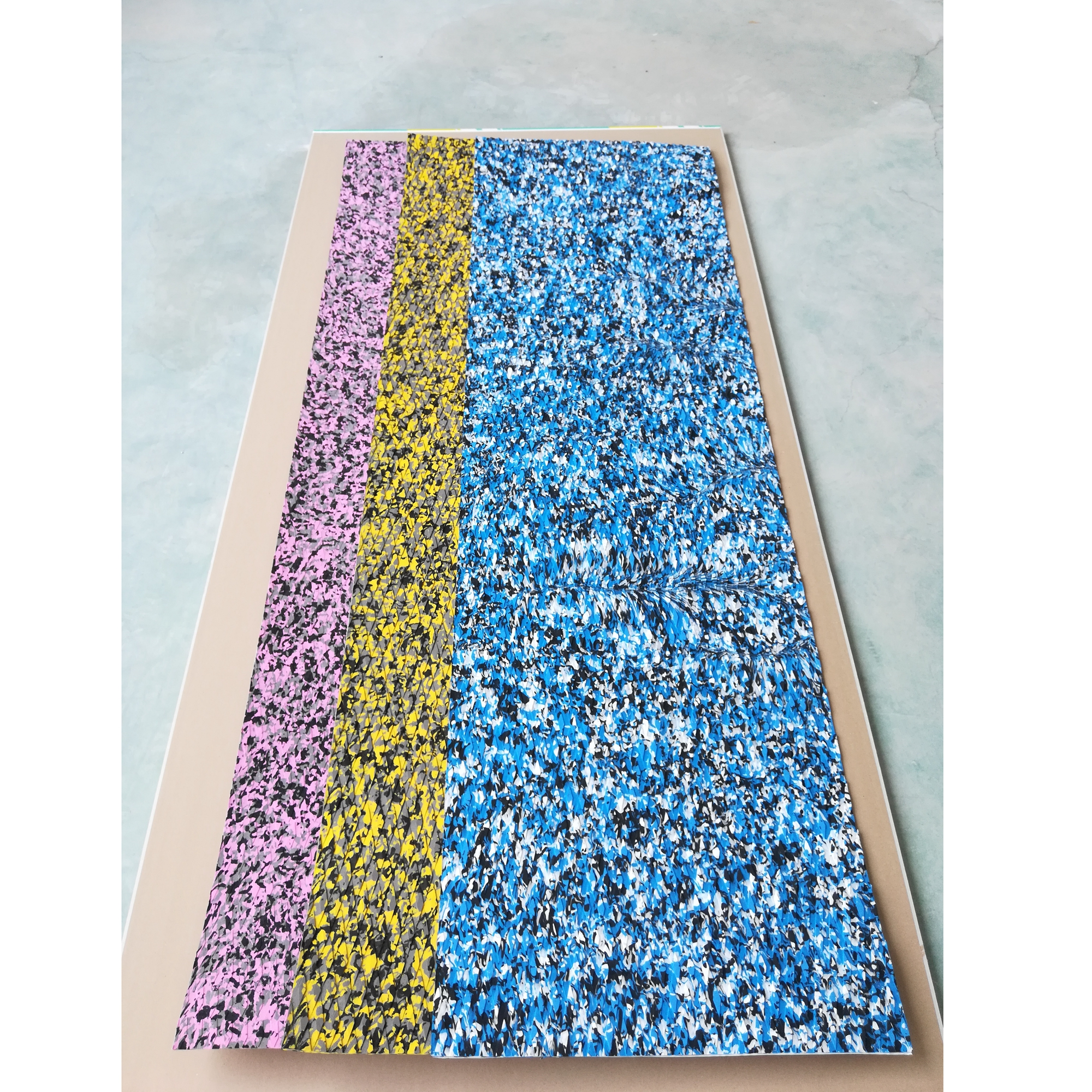 Camouflage blue yellow blue EVA 3M glue skidproof top pad deck pad stand up paddle board