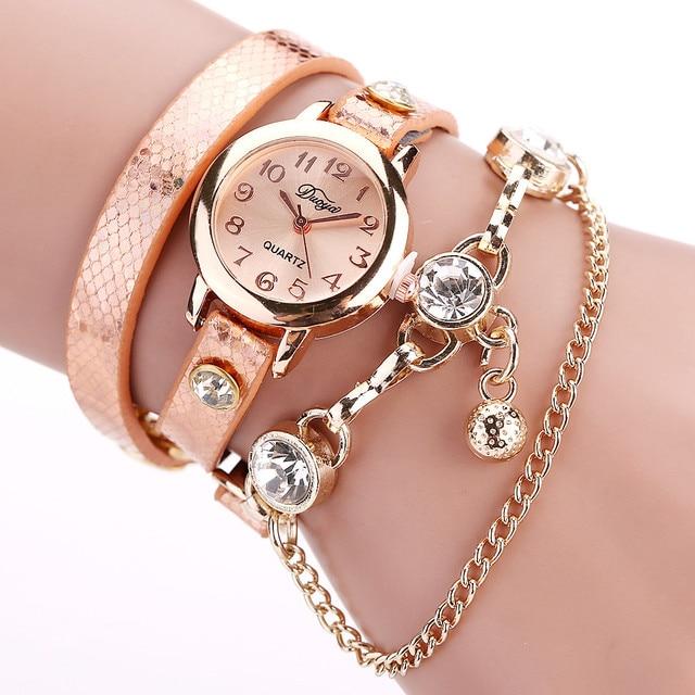 2018 Hot sale fashion luxury bead pendant watches bracelet watch women wrist wat