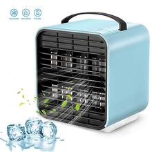 Portable Air Conditioner Mini Cooler with USB 3 in 1 Cooling Fan Humidifier & Purifier Rechargeable Desktop