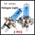 2 Unids H4100W H4 Del Xenón Del Halógeno de Luz de Xenón 6000 K 12 V Super White H4 del Halógeno