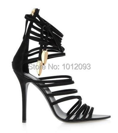 Aliexpress.com : Buy Big Size 10 Chic Black Suede High Heel ...