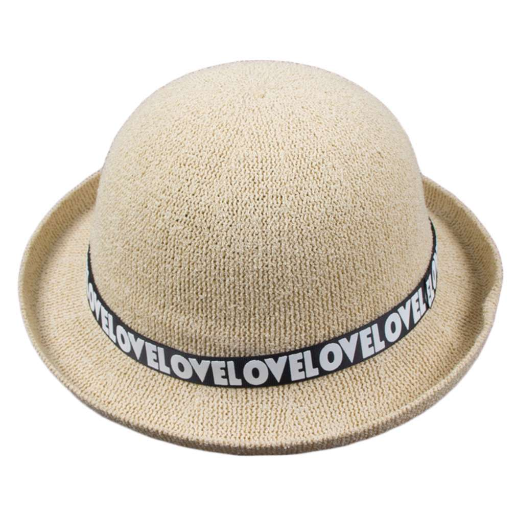 New New Summer Women Bowler Hat Basin Hat English Letter Cotton Thread Cap  2016 Hot Sale-in Sun Hats from Apparel Accessories on Aliexpress.com  70ba00615be