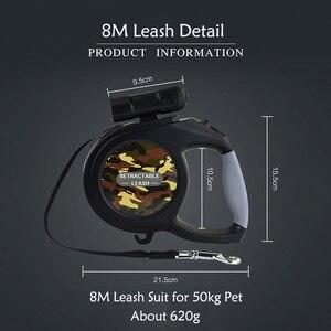 Image 5 - Yeni Varış 8 M 50 kg Büyük Köpek Tasma Geri Çekilebilir Uzanan evcil hayvan tasması Kurşun Büyük ve Orta Köpek LED