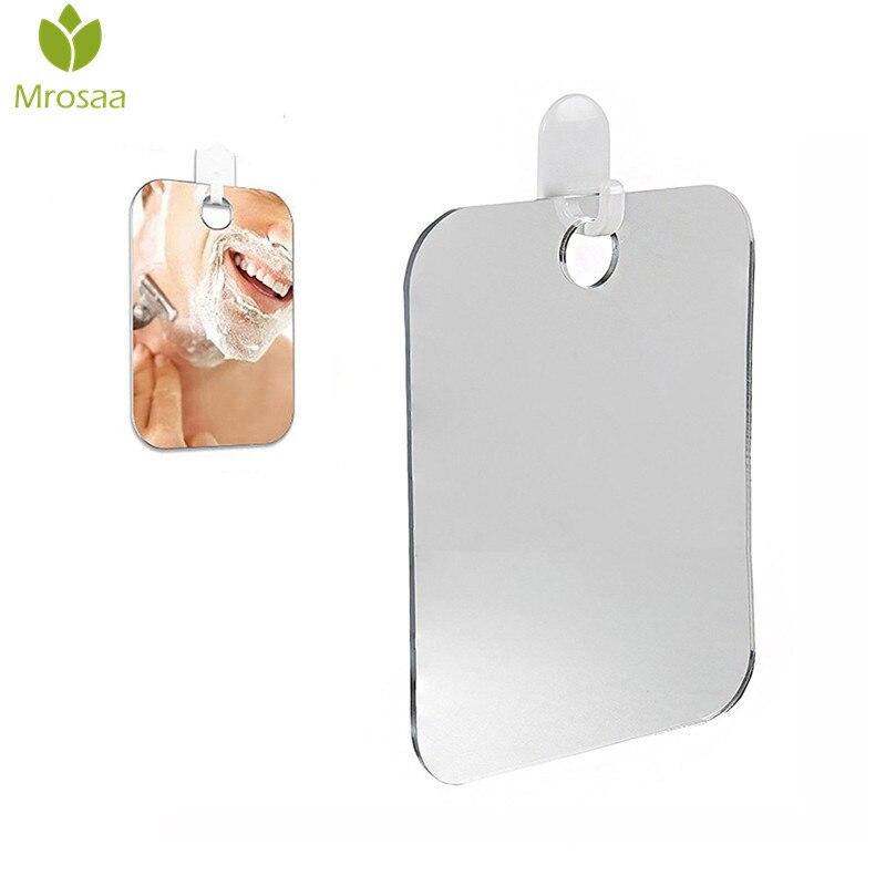 1 Pcs Mrosaa Bathroom Accessories Acrylic Portable Shaving Bath Shower Mirrors Anti-Fog Shower Mirror For Bathroom & Traveling