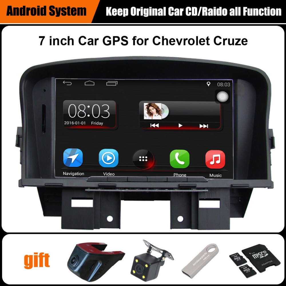 Upgraded Original Car multimedia Player Car GPS Navigation Suit to Chevrolet Cruze WiFi Bluetooth Smartphone Mirror-link