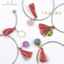 Flower Invitatiom Dried Tassel Bracelet Specimen Small Fresh Hand Glass Ball Jewelry