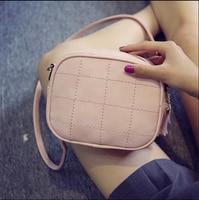 Women Messenger Shoulder Bag Simple Round Shaped Sweet Cute Crossbody Tassel Bags Girls Plaid Small 2017 new design Pink Bags