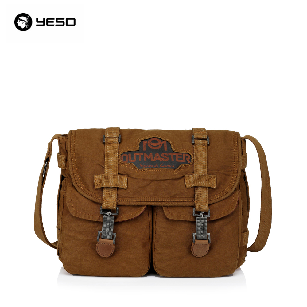 New YESO Brand Design 2016 New Vintage Style Men Hasp Messenger Bag Casual Travel Canvas Cross Body Bags Mens Shoulder Bag new casual business leather mens messenger bag hot sell famous brand design leather men bag vintage fashion mens cross body bag