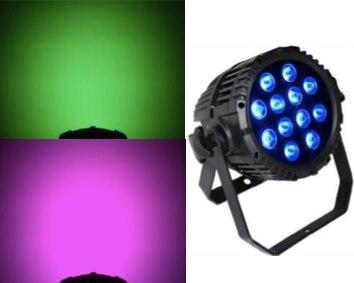 2 pcs/lot, imperméable 12x12 w LED par lumière RGBW 4in1 par peut IP65 scène de mariage décoration dmx disco éclairage discothèque concert