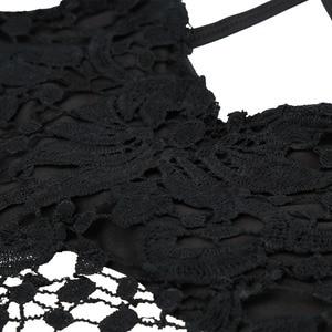 Image 5 - ANSELF 2020 yaz yeni seksi kadın kırpma üst örme tığ işi sutyen derin V boyun spagetti kayışı Backless kaşkorse Bralette Beachwear