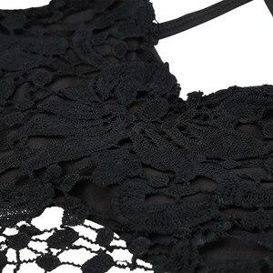 Image 5 - ANSELF Mùa Hè 2020 Mới Gợi Cảm Nữ Crop Top Dệt Kim Móc Áo Ngực Cổ V Sâu Dây, Hở Lưng Yếm Áo Bralette Đi Biển