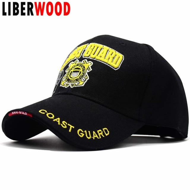 ee30ad6b61885 LIBERWOOD US Coast Guard USCG 3D Embroidered Baseball Cap United States  Coast Guard Men women Tactical Hats Cap Adjustable