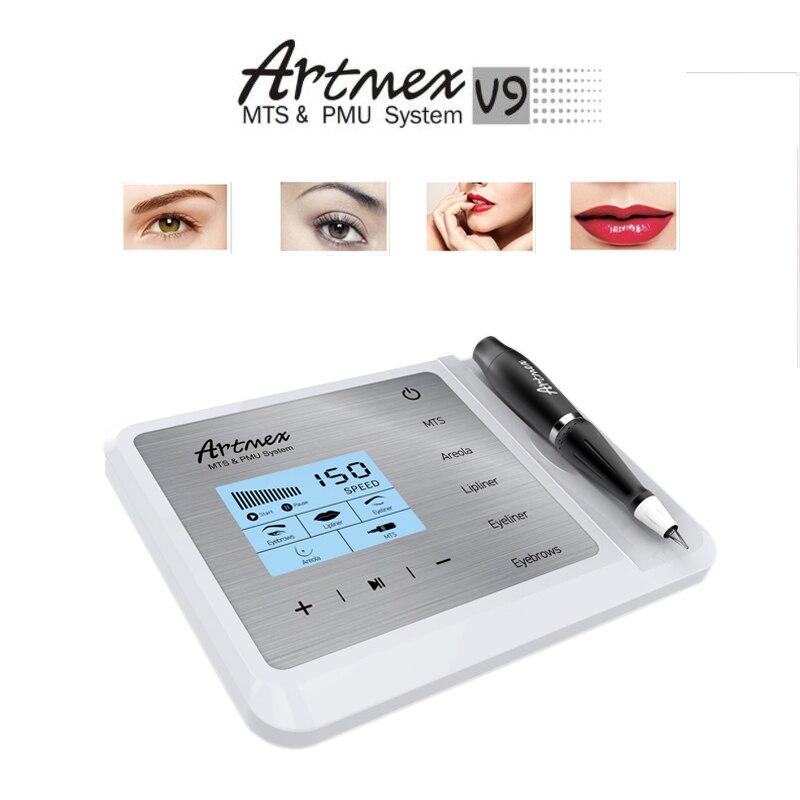 Artmex V9 Maquillage Permanent Tatouage Machine Eye Brow Lèvres Rotatif Stylo V6 MTS PMU Système