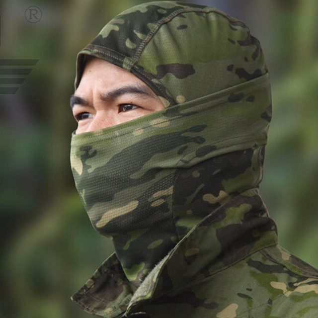 Military Tactical Balaclava Camouflage Airsoft Game Hunting Riding Camping Hiking Cycling Face Mask Neck Protector 2