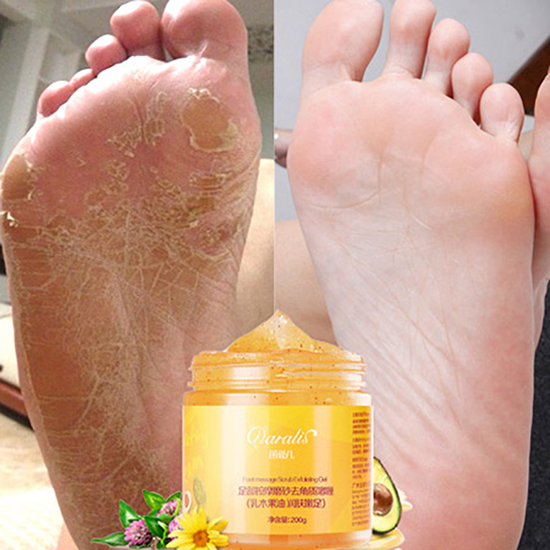 1PC 200g Foot scrub exfoliating cream exfoliating foot calluses foot care massage cream chapped prevention film