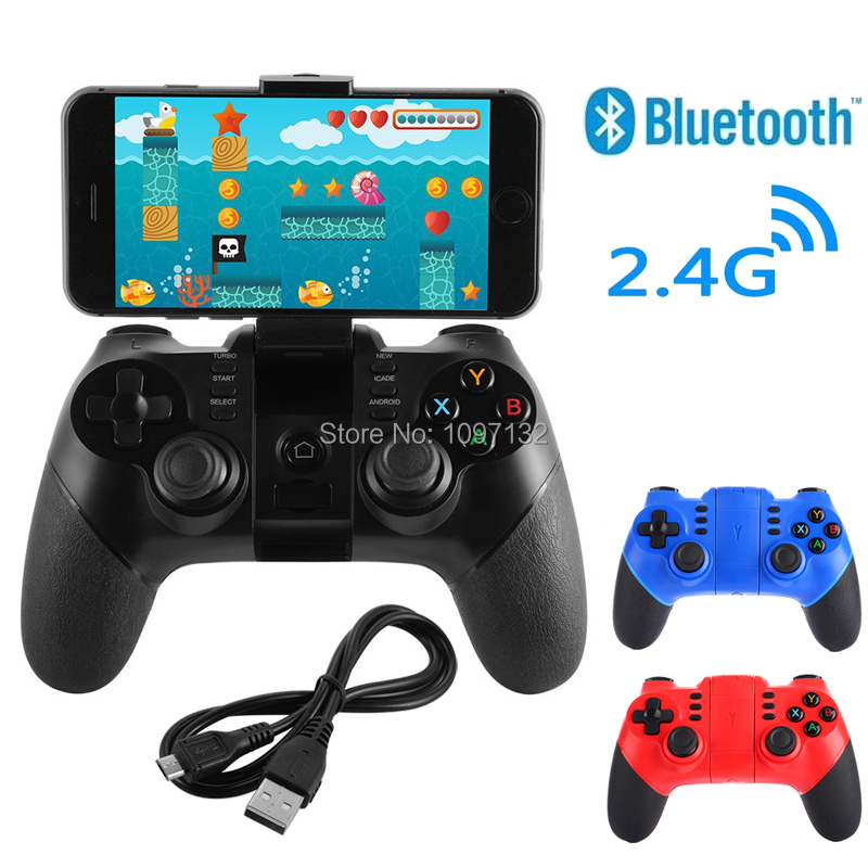 2018 New Wireless Bluetooth Controller for Android Smartphone Tablet PC TV for PS3 Console with 2.4G Wireless Dongle