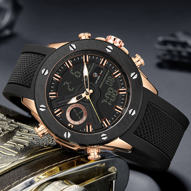 Men Watch Luxury Brand OLDENHOUR Fashion Analog Digital Sports Mens Watches Waterproof Silicone Quartz Watch Relogio Masculino 3