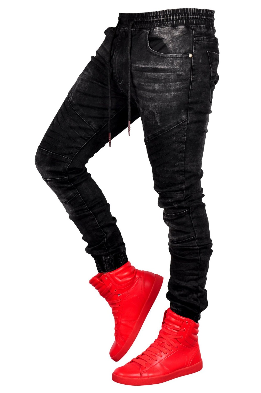 2019 European American Folds Slim Fit Jeans Men Jeans Runway Slim Moto amp Biker Jeans Fashion Hiphop Skinny Black Jeans For Men in Jeans from Men 39 s Clothing