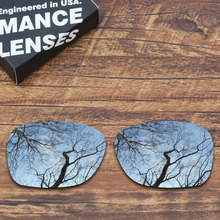Toughasnails الاستقطاب عدسات لاستبدال أوكلي حافزا نظارات معدنية فضية اللون (عدسة فقط)